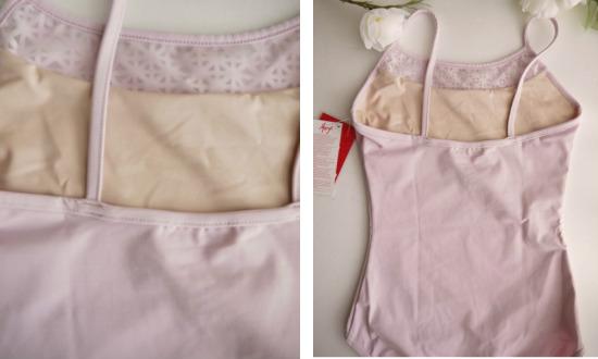 バレエレオタード CAPEZIO 胸カッティングデザインデザインキャミソール(サイズ135~150