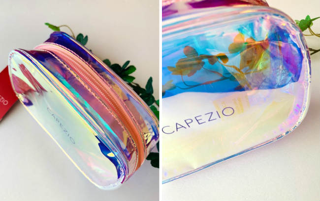 CAPEZIO シースルーホログラフィックメイクポーチ【●メール便不可】CA-052