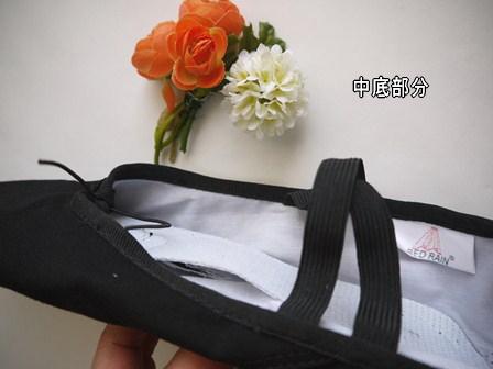 CD-008 キャンパスバレエシューズ(ブラック)