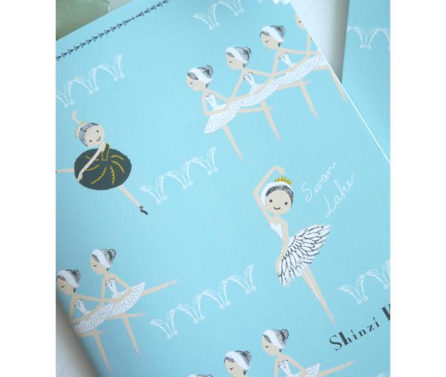 バレエ ノートブック Shinzi kato note バレエ柄ノート スワンレイク