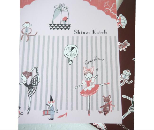 バレエ ノートブック Shinzi kato note バレエ柄ノートコッペリア