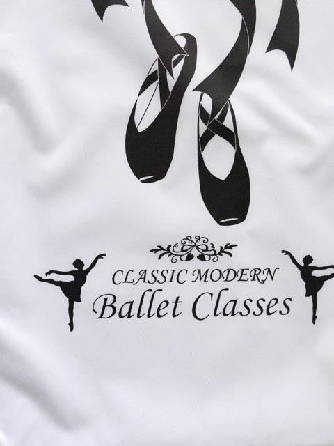 -016 ナップサック(トウシューズ柄)バレエ ダンス レッスンバッグ お稽古 子供 ジュニア 大人