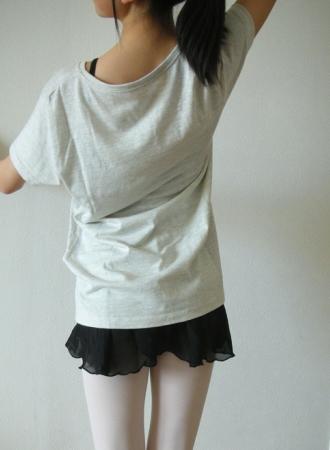 トウシューズ柄Tシャツ(バレエ)