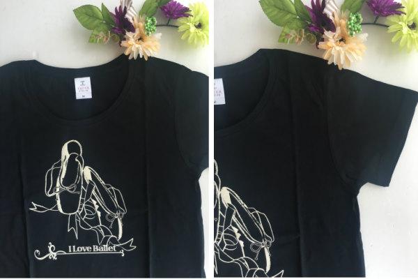バレエTシャツ ラウンドネックT (トウシューズ&ドリーム) サイズ ジュニア大人フリー160)バレエ用品(JJ-067)