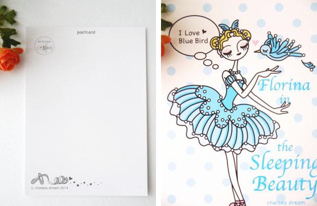 バレエ ポストカード《フロリナ》