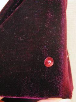NB-35 スパンコール付きベロアゴムスカート