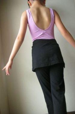 NB-48子供ジュニアスカート付ヨガパンツ
