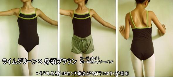 NB-63 ベロア&メッシュデザイン切替キャミレオタード