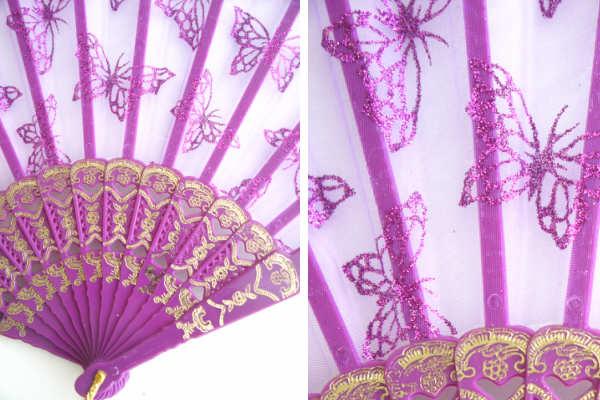 レース扇 バタフライ 蝶々 バレエ用品
