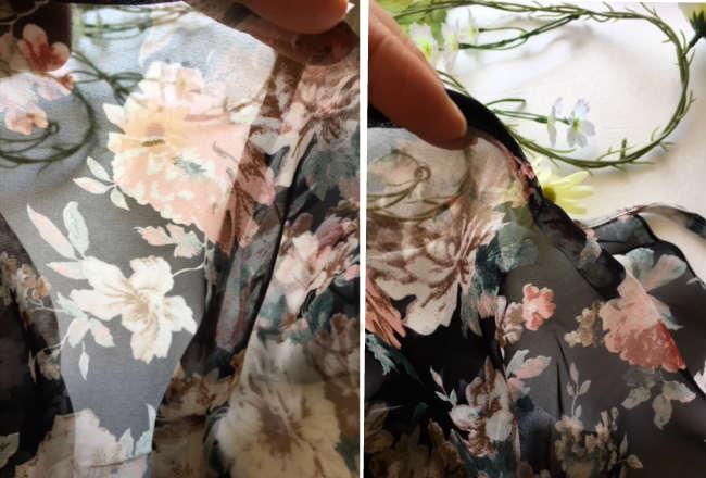 バレエスカート マルチフラワーシフォンデザイン巻きスカート(サイズジュニア大人フリー160)【メール便可】(SK-030)