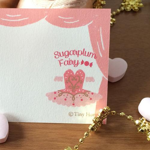 バレエミニカード 【『くるみ割り人形』封筒付き 同柄4セット】【メール便可】(TH-007)